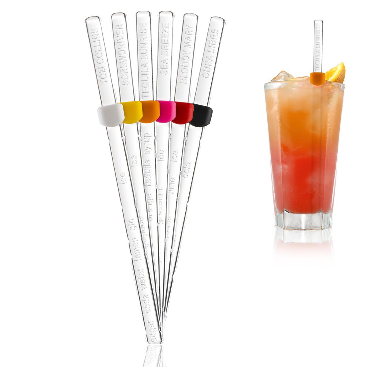 Cocktail Recipe Sticks
