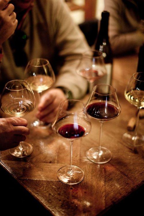 Holding & swirling wine